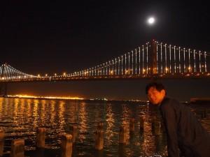 サンフランシスコ、ベイブリッジの夜景