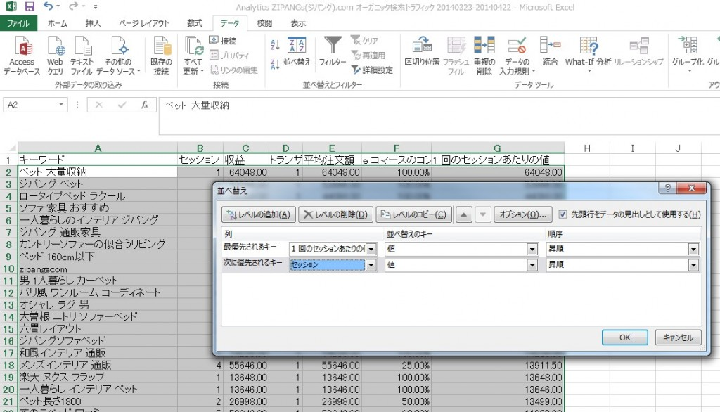Googleanalytics(グーグルアナリティクス)をエクセルで管理