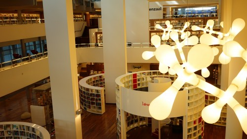 アムステルダム図書館の中心地