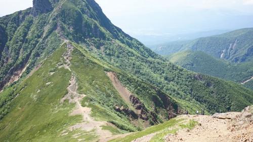 八ヶ岳の稜線