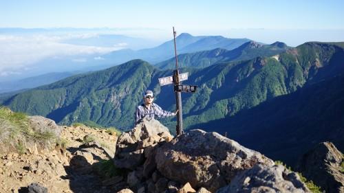 赤岳山頂から出発