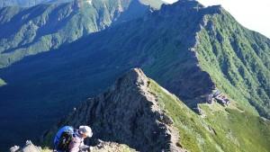 赤岳から横岳までの稜線