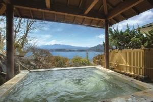 富士山が見える温泉