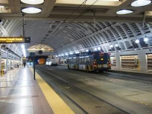 シアトルの駅の様子