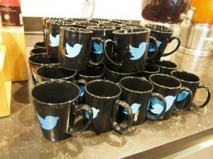 twitter(ツイッター)のロゴ入りマグカップ