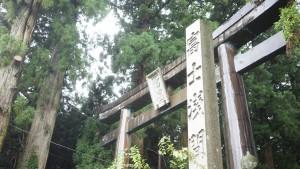 『北口本宮冨士浅間神社』の鳥居