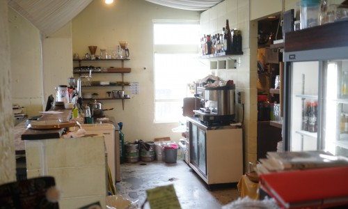 カフェユニゾンのキッチン