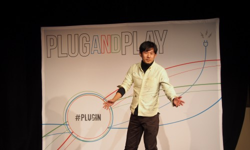 Plug and Play Tech Centerのピッチ会場