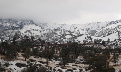 アメリカの雪景色