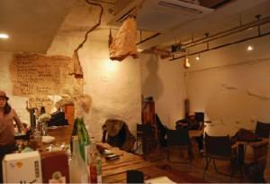 ピースロックカフェの店内