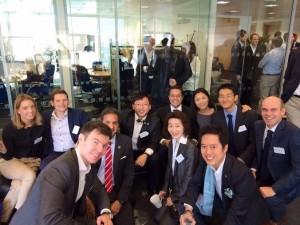 ロンドンにてハーバードビジネススクールのサミット