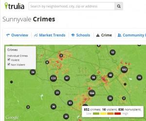 truliaのシリコンバレーの危険分布図