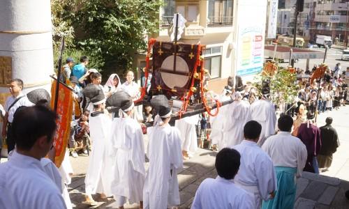 長崎くんち神輿の移動