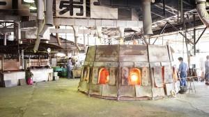 ガラス工場のダルマ炉