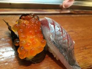 志乃多のお寿司 いくら・あじ