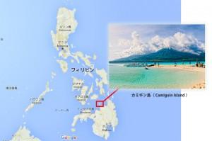 フィリピンカミギン島の地図