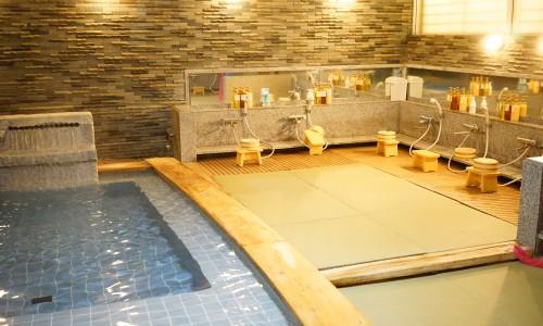 畳の宿湯の花亭大浴場