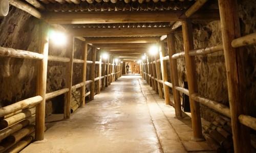 土肥金山坑道の通路