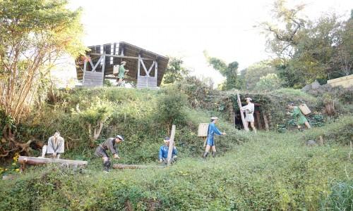 土肥金山の作業