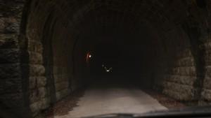 旧天城トンネルの中
