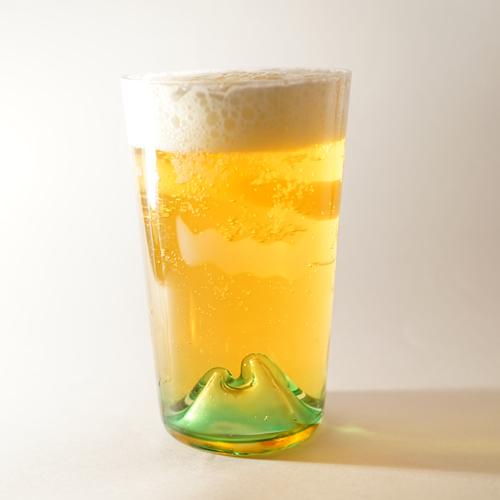 月夜野工房ビールグラス「夕焼けのやま」(タンブラー)