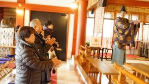 横浜・鶴見潮田神社でお祓い・祝詞をあげてもらう