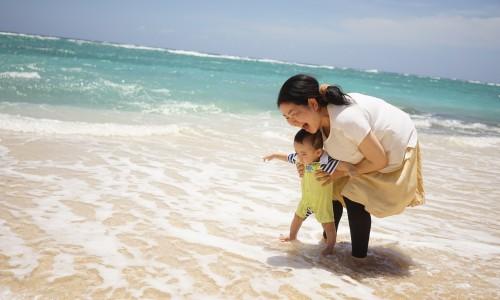 フィッシャーマンズウォーフの海はきれいだった。沖縄