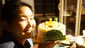 北軽井沢スィートグラス誕生日ケーキ