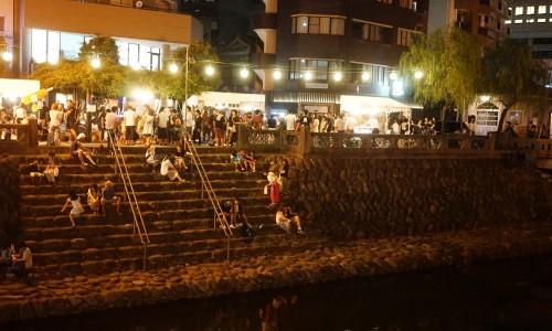 眼鏡橋周辺の長崎夜市2016年
