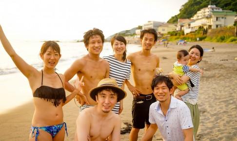 葉山・秋谷海岸海水浴場にシェアハウスのメンバーとドライブ!