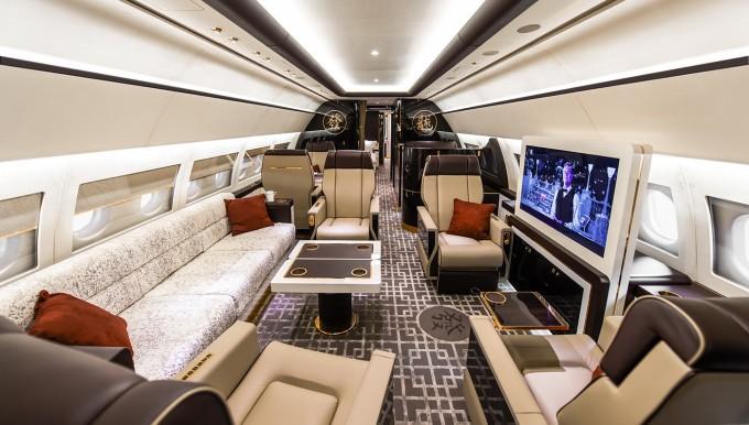 プライベートジェット機の内装