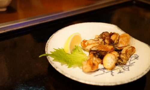 てっぱん響「牡蠣の醤油バター焼き」