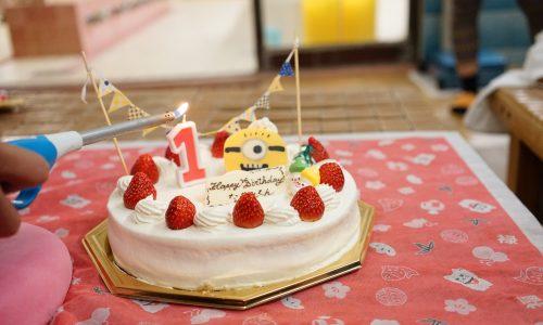 直人の1歳誕生日ケーキ