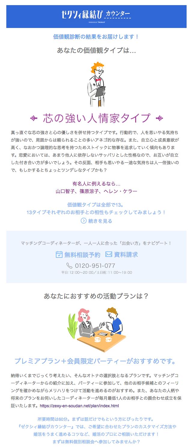 4.ゼクシィ縁結びカウンターメール