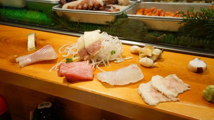 「長崎の味処 鮨・割烹さくらい」の刺身の盛り合わせ