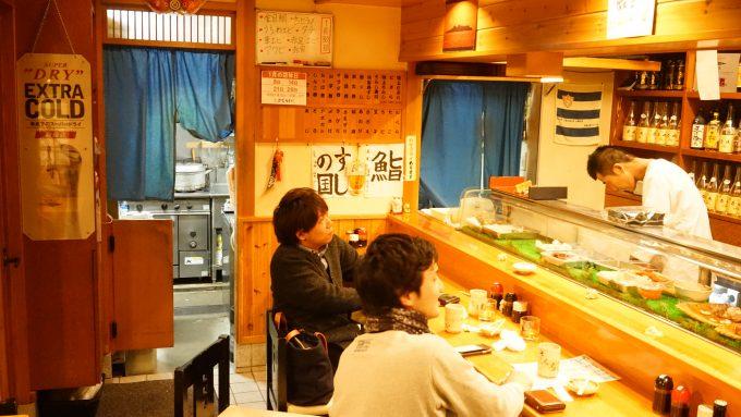 「長崎の味処 鮨・割烹さくらい」の店内
