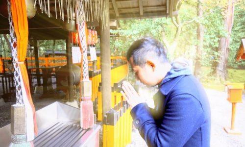 京都嵐山参拝の様子